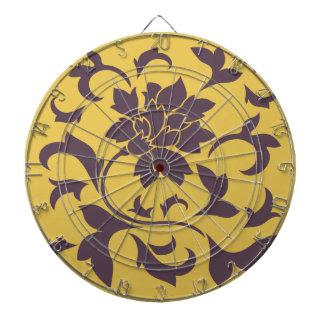 Orientalisk blomma - körsbärsröd choklad & senap piltavla