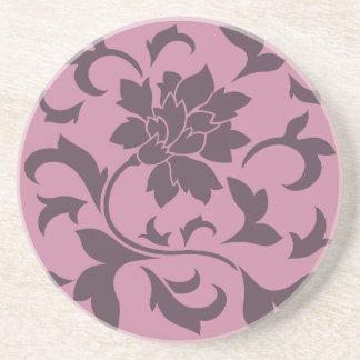 Orientalisk blomma - körsbärsröd choklad & underlägg