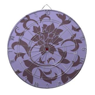 Orientalisk blomma - körsbärsröd choklad & violett darttavla