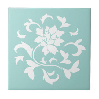 Orientalisk blomma - mönster för liten kakelplatta