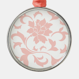 Orientalisk blomma - rosa kvart julgransprydnad metall