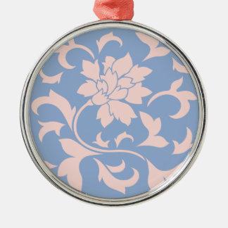 Orientalisk blomma - rosa kvart- & Serenityblått Julgransprydnad Metall