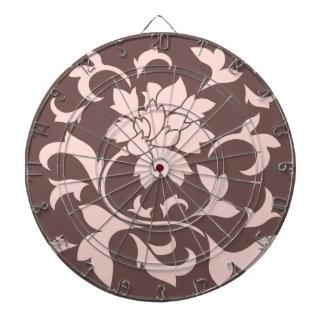 Orientalisk blomma - rosa kvartar & choklad darttavla