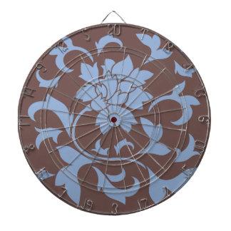 Orientalisk blomma - Serenityblått & choklad Dart Tavlor