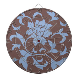 Orientalisk blomma - Serenityblått & choklad Piltavla