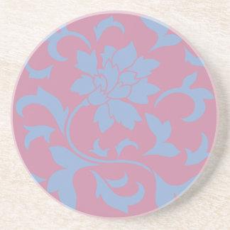 Orientalisk blomma - Serenityblått & jordgubbe Underlägg