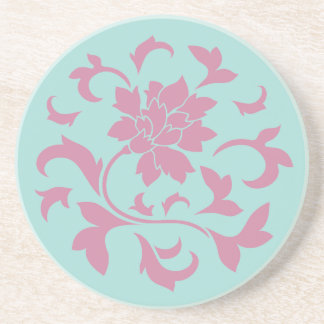 Orientalisk blomma - skålsnäckasnäcka - rosor underlägg sandsten