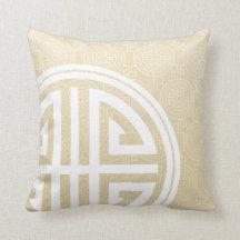 Orientalisk dekorativ lång vit för vete för kudde