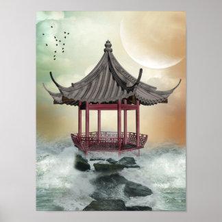 Orientalisk Gazeboaffisch Poster