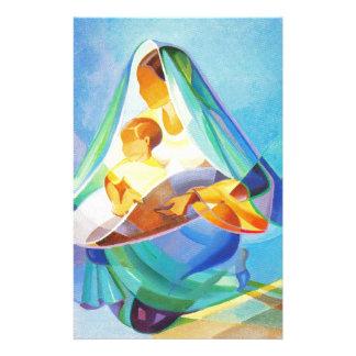 Orientalisk julkrubba, Mary, Jesus Brevpapper