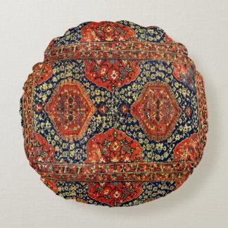 Orientalisk matta i blue&orange rund kudde