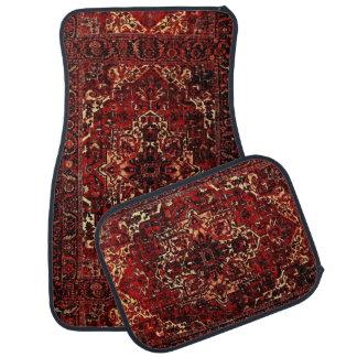 Orientalisk mattadesign i röd mörk - bilmatta