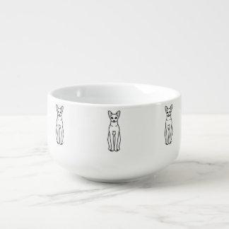 Orientalisk Shorthair katttecknad Stor Kopp För Soppa