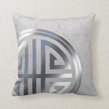 Orientaliska dekorativa långa grått för prydnadskudde