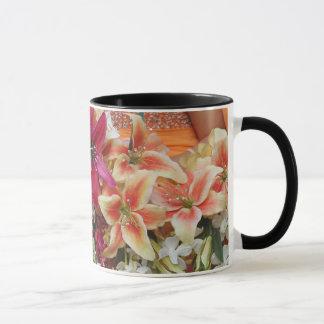 Orientaliska liljar mugg