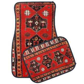 Orientaliskt stam- mattar mönster bilmatta