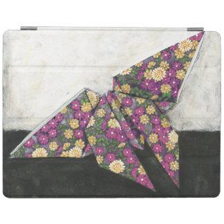 Origami fjäril på blommigtpapper iPad skydd