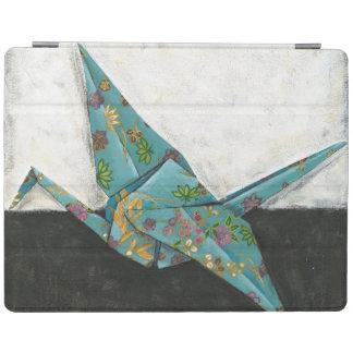 Origami kran med blom- designer iPad skydd