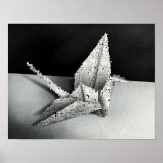 Origami svan - för konstaffisch för 11x14 Digital  Affischer