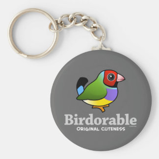 Original- CutenessGouldian Finch Rund Nyckelring