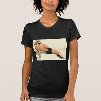 Original- färgläggning 20 för vintagepinupflicka t-shirt
