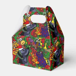 Original för konst för rolig djurjul abstrakt presentaskar