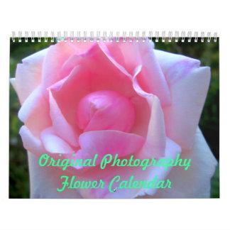 Original- fotografiblommakalender kalender