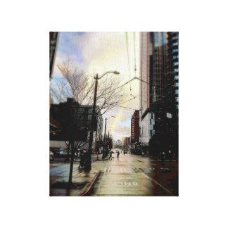 Original- fred Pike & gräsregnbåge i Seattle Canvastryck