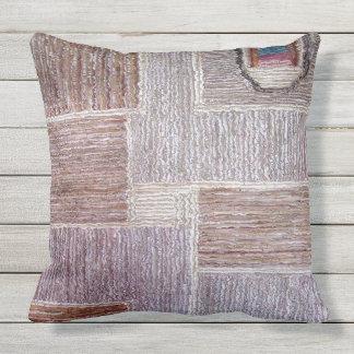 Original- läder mattar hantverket kudde