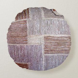 Original- läder mattar hantverket rund kudde