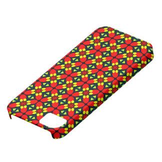 original- retro mönster för skraj blommafodral iPhone 5 fodraler