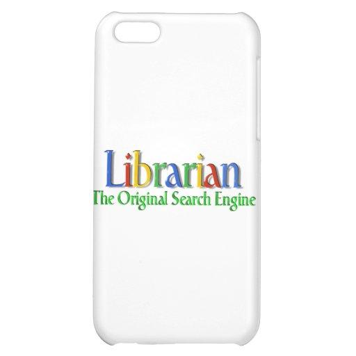 Original- sökandemotor för bibliotekarie iPhone 5C mobil fodral