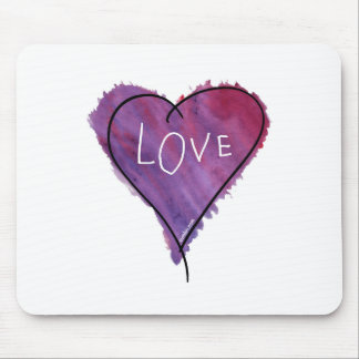 Original- SumLuv - kärlekhjärta (lilor) Musmattor