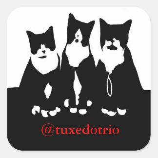 Original- TuxedoTrio kvadrerar klistermärkear Fyrkantigt Klistermärke
