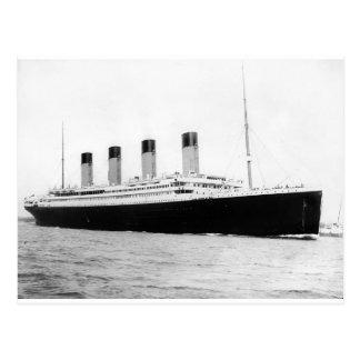 Original- vintagefoto av Titanic Vykort