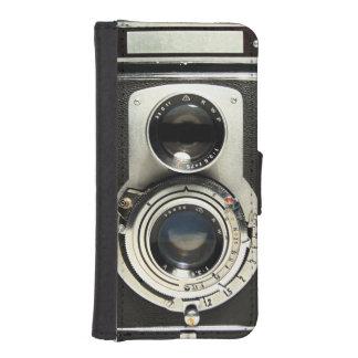 Original- vintagekamera iPhone SE/5/5s plånbok