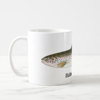 Öringfisk Vit Mugg