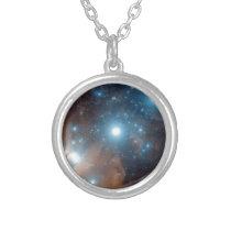 Orions bälte halsband med rund hängsmycke