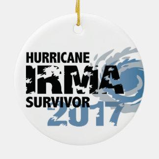 OrkanIrma överlevande Florida 2017 Julgransprydnad Keramik