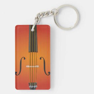 Orkesterrektangel tvåsidiga Keychain