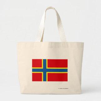 Orkney flagga tote bags
