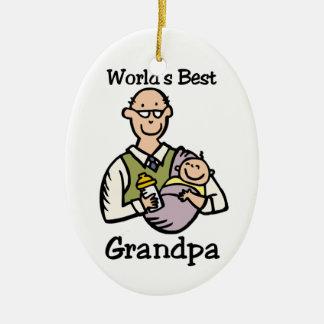 Ormanent världs bäst morfar julgransprydnad keramik