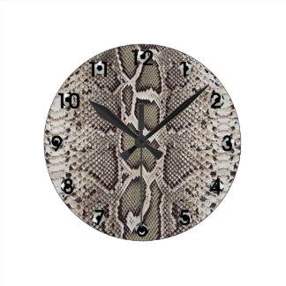Ormen flår mönster rund klocka