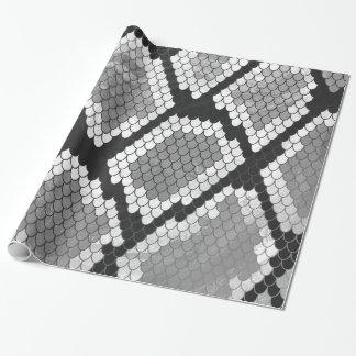 Ormgrått, vit och svart tryck presentpapper