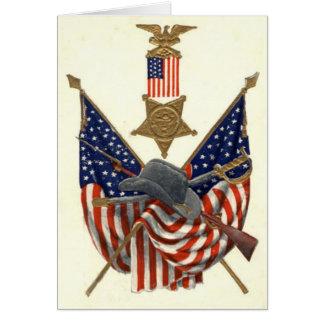 Örn för medalj för inbördeskrig för US-flagga Hälsningskort