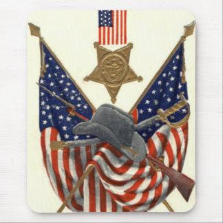 Örn för medalj för inbördeskrig för US-flagga Musmattor