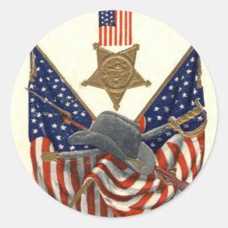 Örn för medalj för inbördeskrig för US-flagga Runt Klistermärke