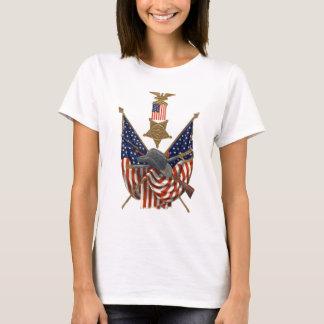 Örn för medalj för inbördeskrig för US-flagga T-shirt