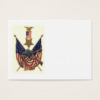 Örn för medalj för inbördeskrig för US-flagga Visitkort