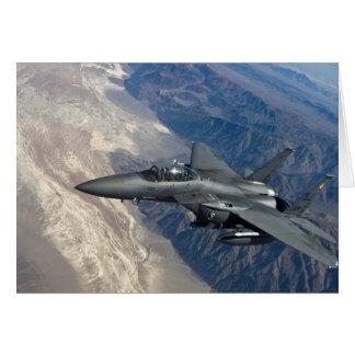 Örn för strejka F-15 Hälsningskort